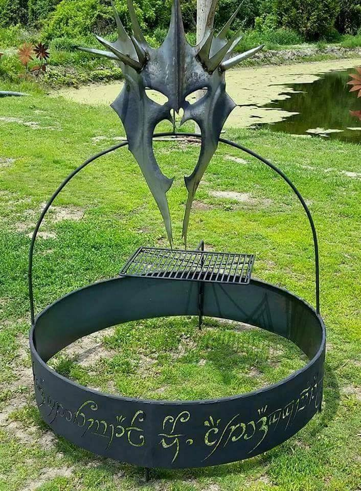 custom steel lord of the rings fire pit by ImagineMetalArt