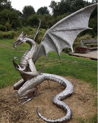custom metal steel dragon by ImagineMetalArt