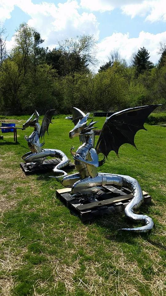 custom metal steel dragons by ImagineMetalArt