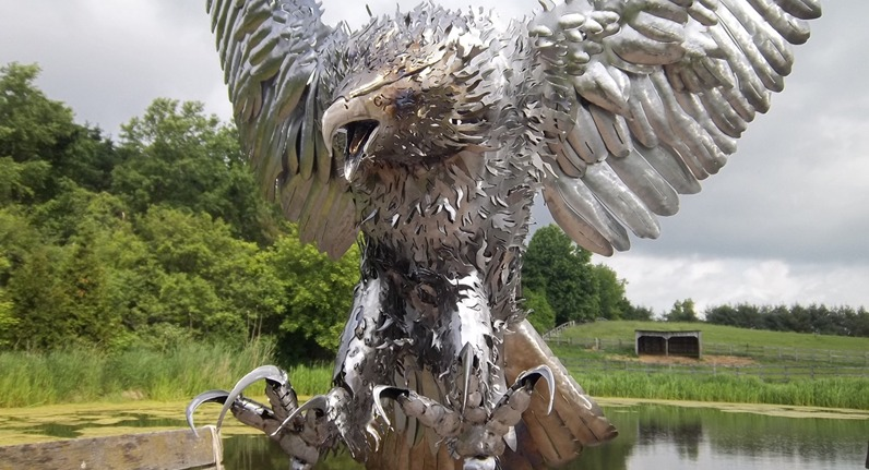 custom steel metal eagle bird by ImagineMetalArt