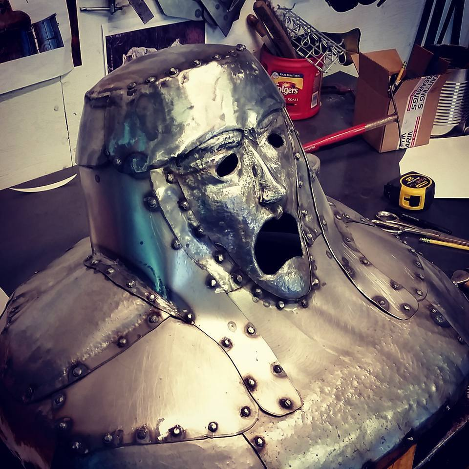 custom metal steel helmet medieval by ImagineMetalArt