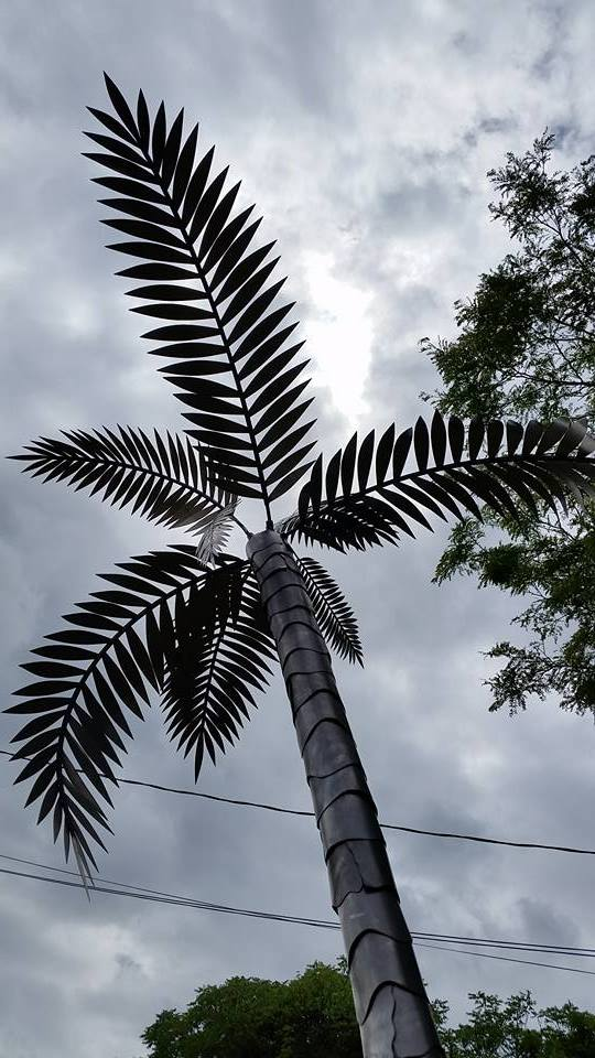 custom steel metal palm tree by ImagineMetalArt