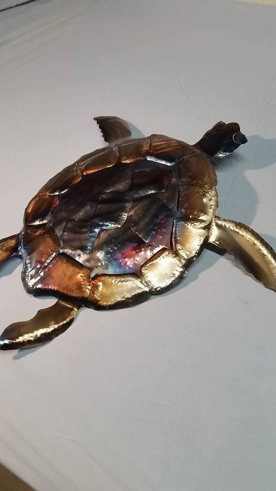 custom steel metal turtle by ImagineMetalArt